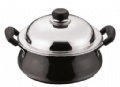 Large Hard Anodised Handi [Karahi Pot] with Stainless Steel Lid